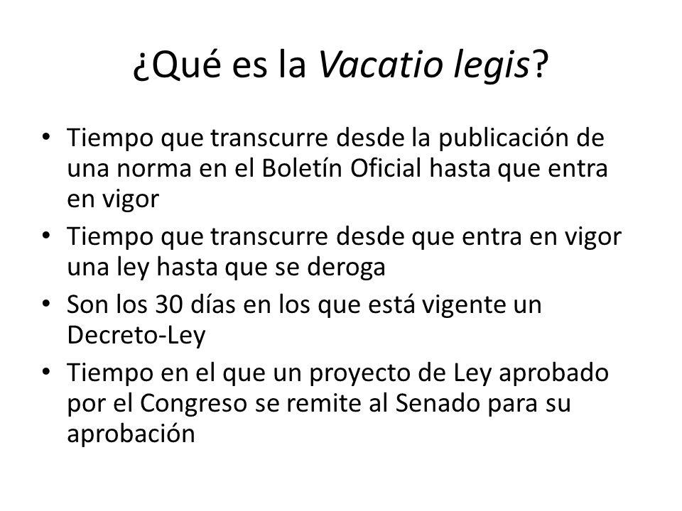 ¿Qué es la Vacatio legis