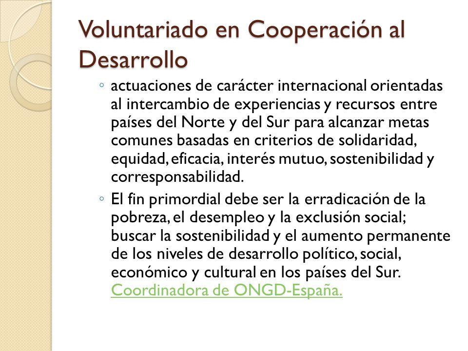 Voluntariado en Cooperación al Desarrollo