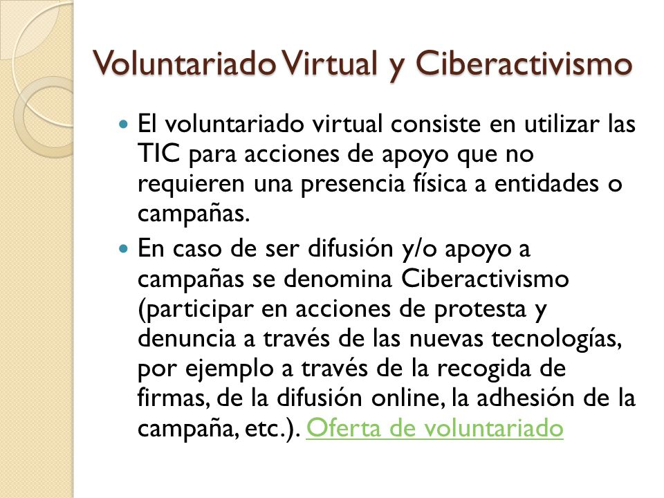 Voluntariado Virtual y Ciberactivismo