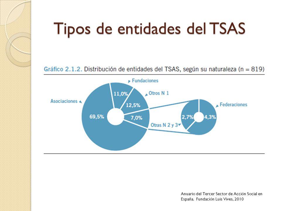 Tipos de entidades del TSAS