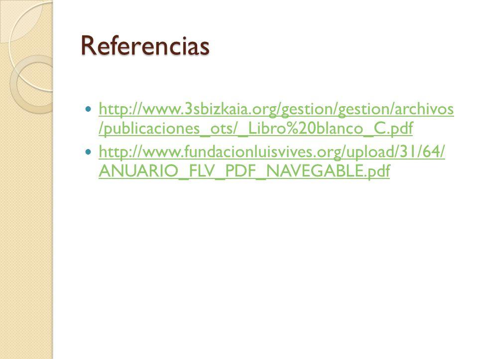 Referencias http://www.3sbizkaia.org/gestion/gestion/archivos /publicaciones_ots/_Libro%20blanco_C.pdf.
