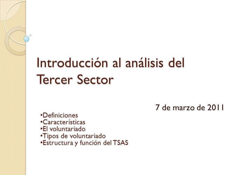 Introducción al análisis del Tercer Sector