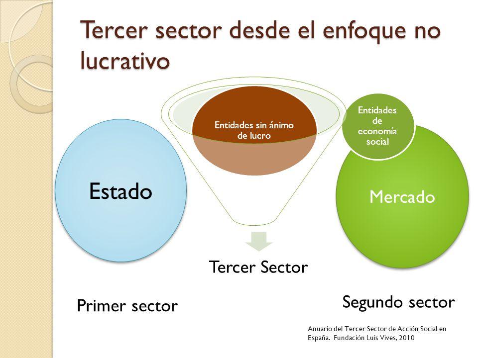 Tercer sector desde el enfoque no lucrativo