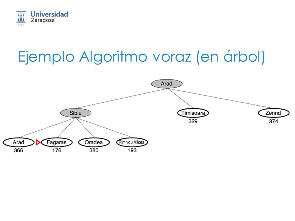 Ejemplo Algoritmo voraz (en árbol)