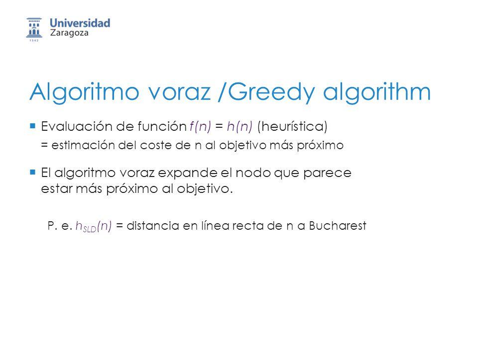 Algoritmo voraz /Greedy algorithm