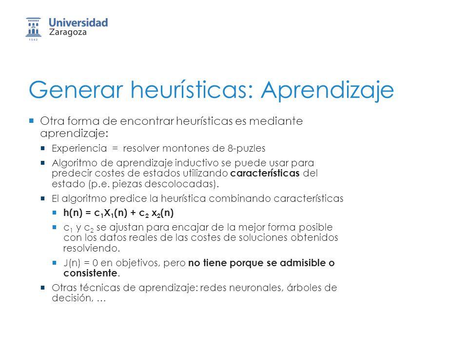 Generar heurísticas: Aprendizaje