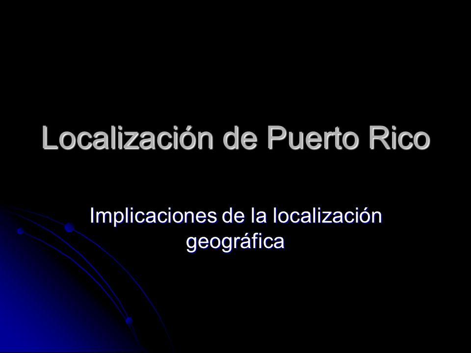 Localización de Puerto Rico