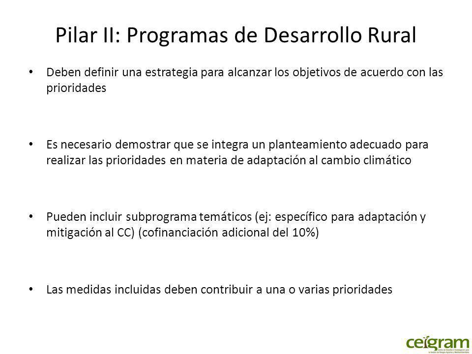 Pilar II: Programas de Desarrollo Rural