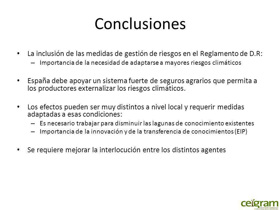 Conclusiones La inclusión de las medidas de gestión de riesgos en el Reglamento de D.R:
