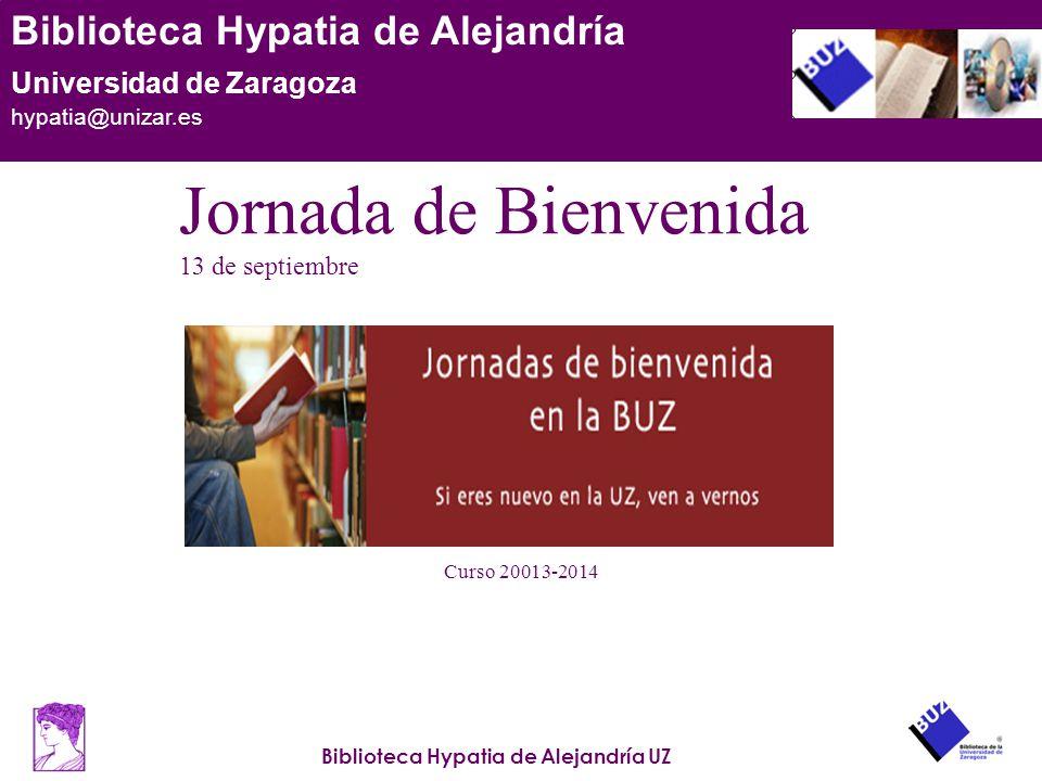 Jornada de Bienvenida 13 de septiembre Curso 20013-2014