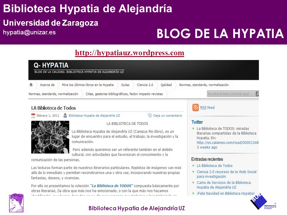 BLOG DE LA HYPATIA http://hypatiauz.wordpress.com