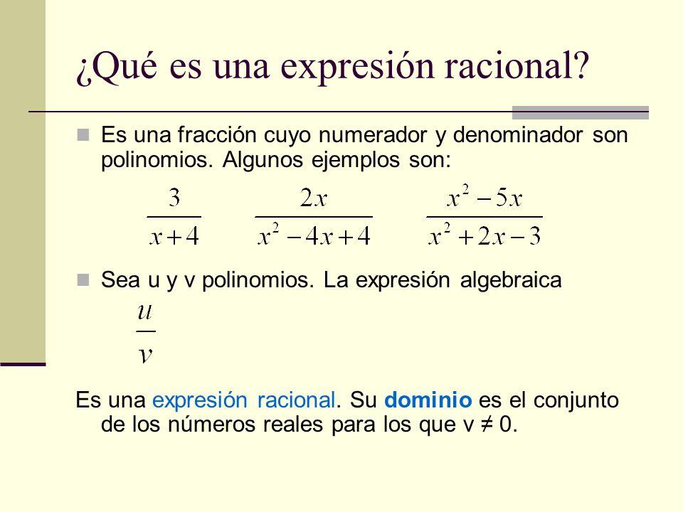 ¿Qué es una expresión racional