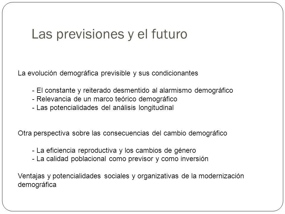 Las previsiones y el futuro
