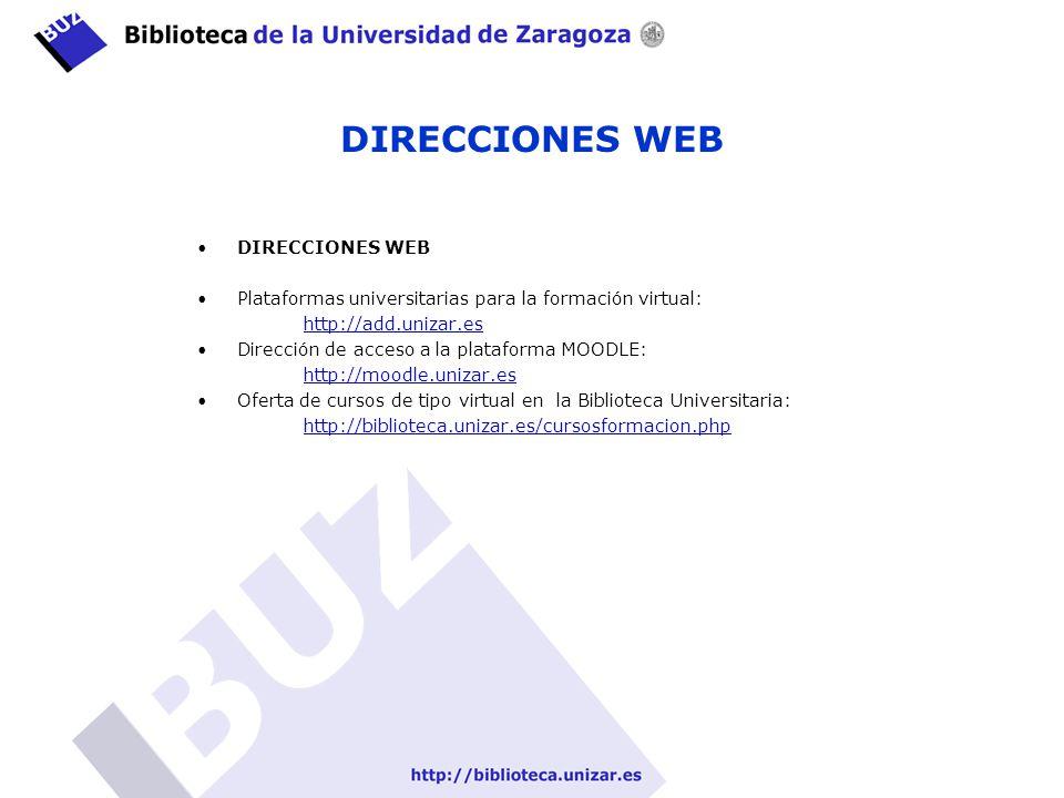 DIRECCIONES WEB DIRECCIONES WEB