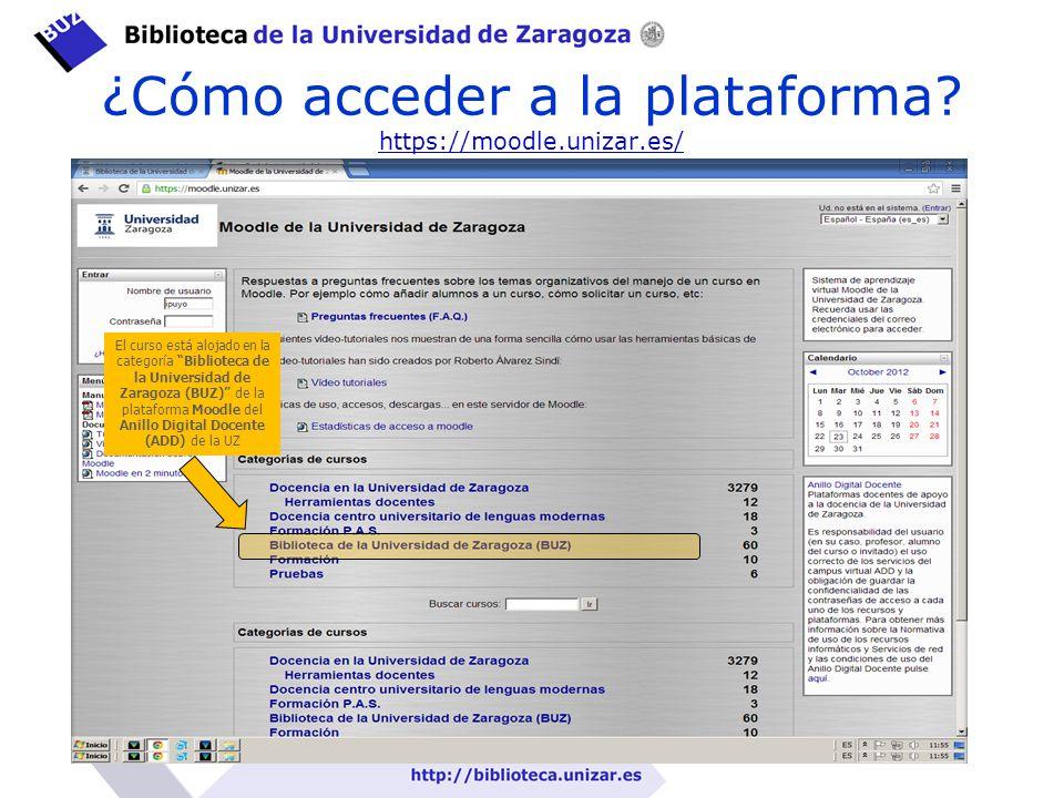 ¿Cómo acceder a la plataforma https://moodle.unizar.es/