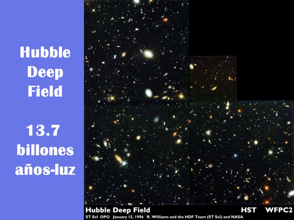 Hubble Deep Field 13.7 billones años-luz