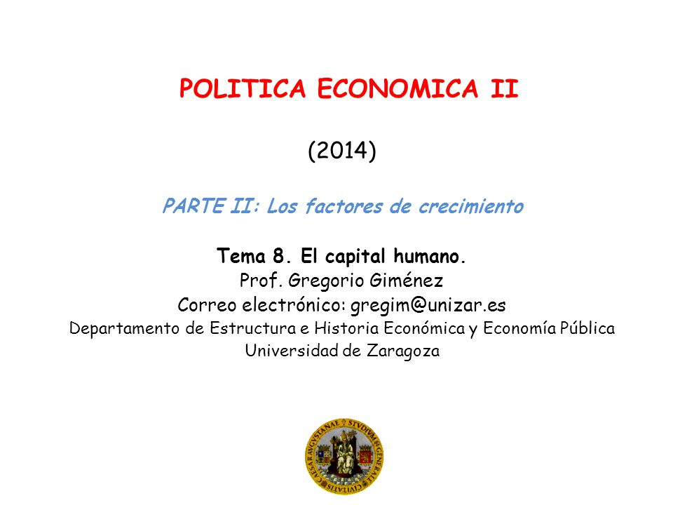 (2014) PARTE II: Los factores de crecimiento