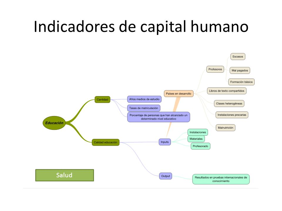 Indicadores de capital humano
