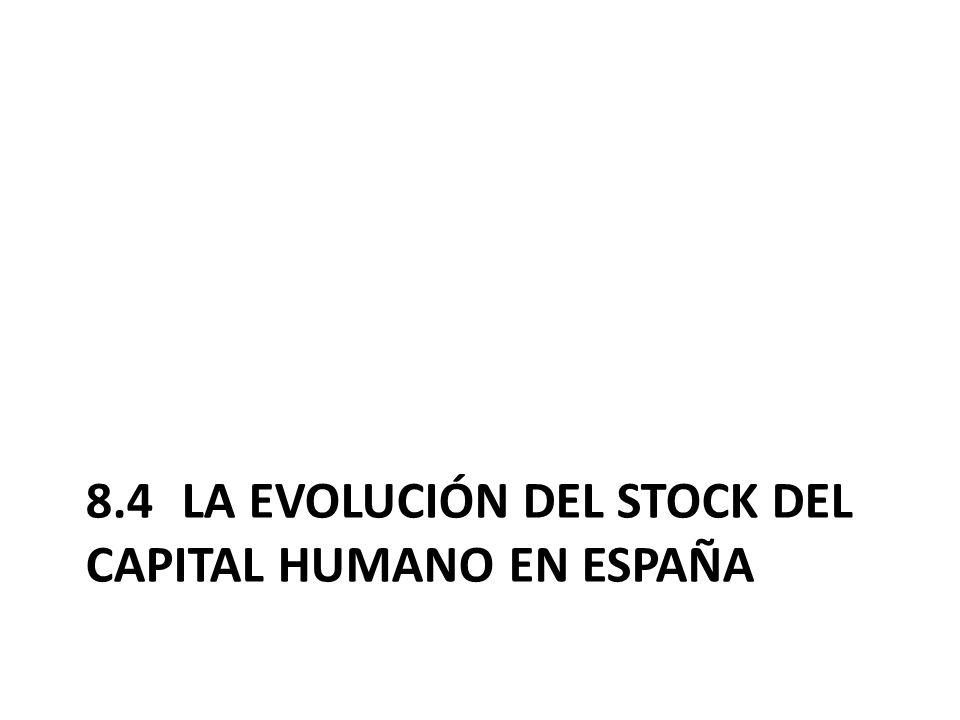8.4 La evolución del stock del capital humano en España