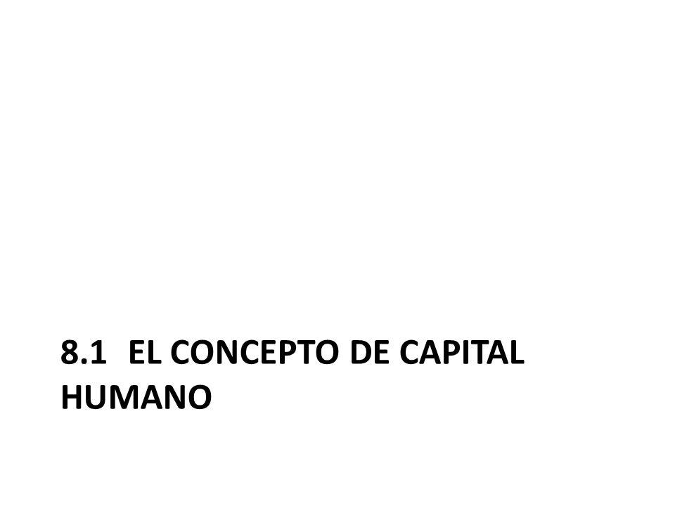 8.1 El concepto de capital humano