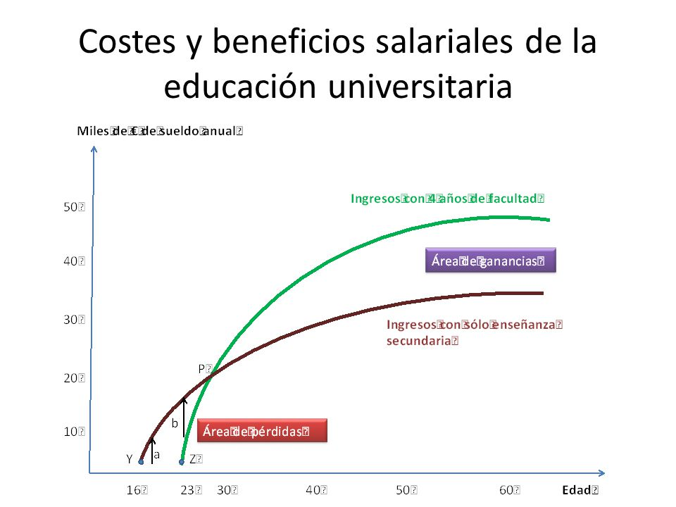 Costes y beneficios salariales de la educación universitaria