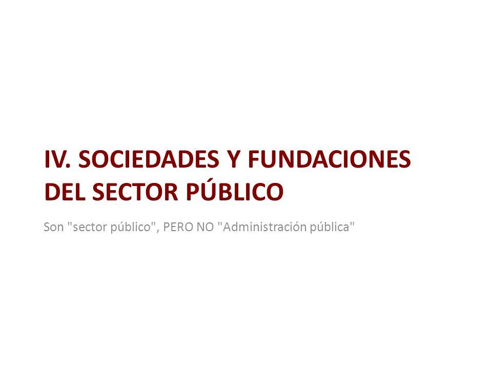 IV. SOCIEDADES Y FUNDACIONES DEL SECTOR PÚBLICO