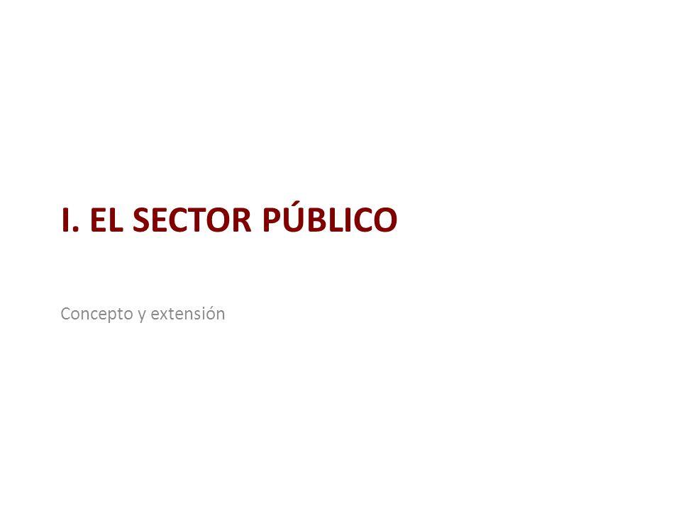 I. EL SECTOR PÚBLICO Concepto y extensión
