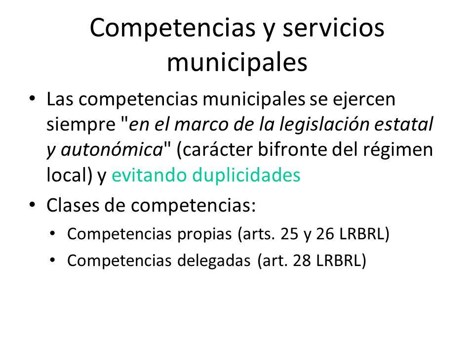 Competencias y servicios municipales