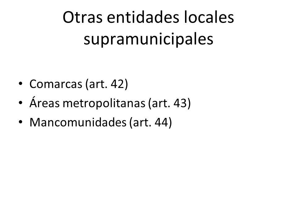 Otras entidades locales supramunicipales