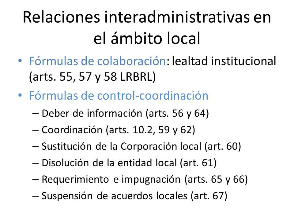 Relaciones interadministrativas en el ámbito local