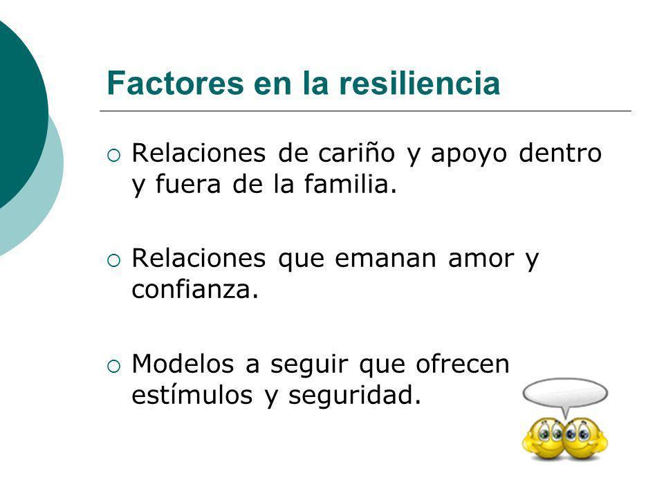Factores en la resiliencia
