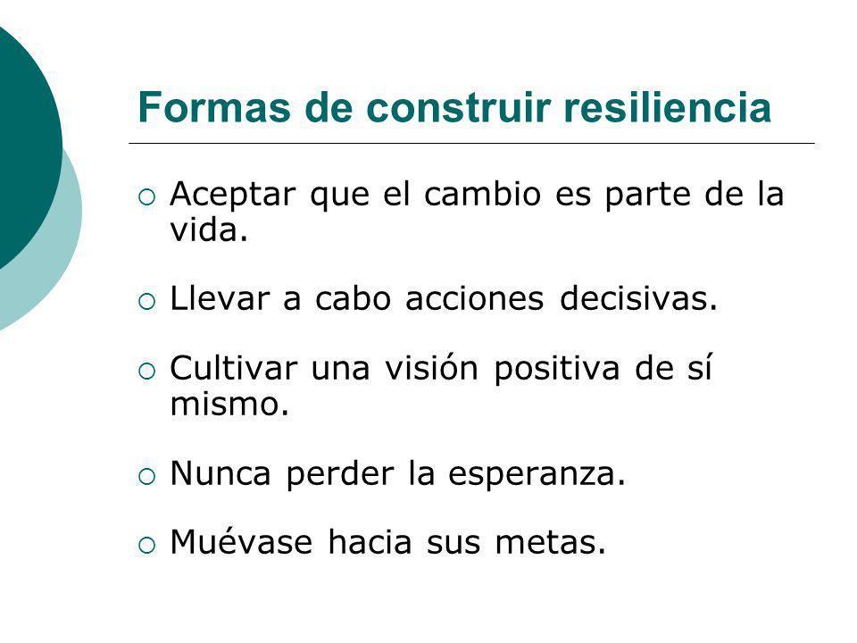 Formas de construir resiliencia