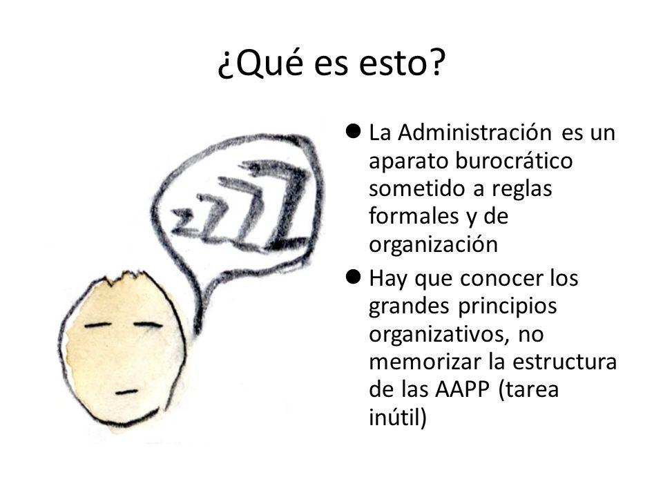 ¿Qué es esto La Administración es un aparato burocrático sometido a reglas formales y de organización.
