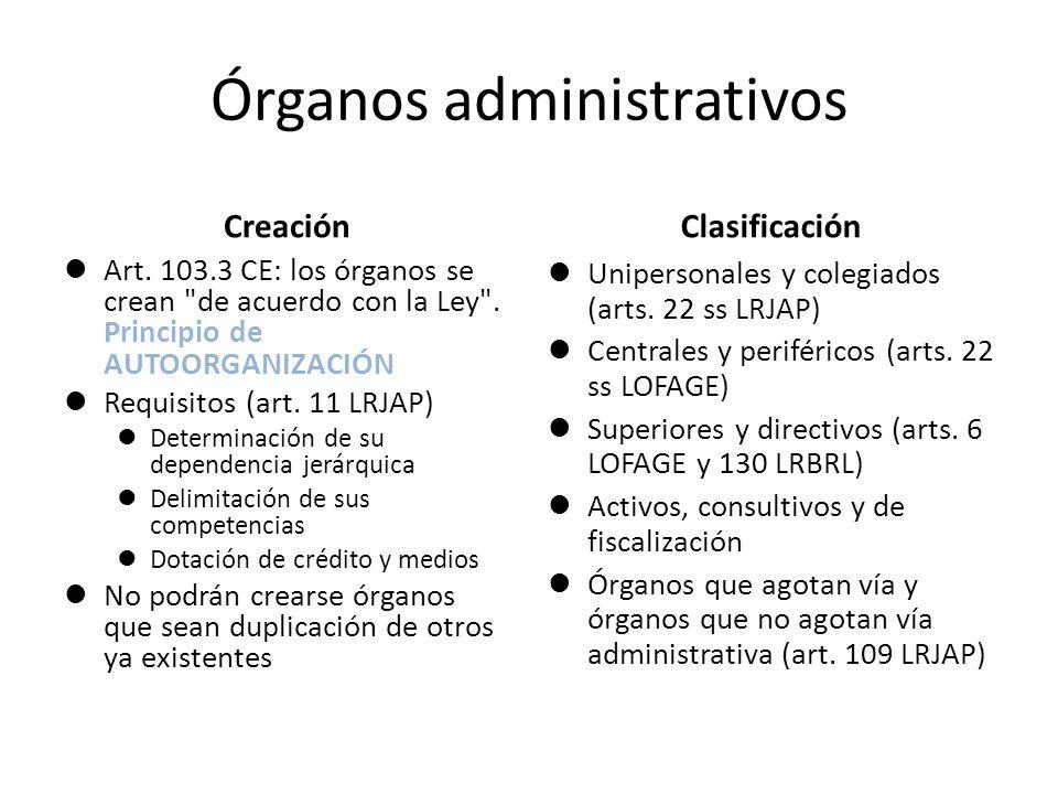 Órganos administrativos