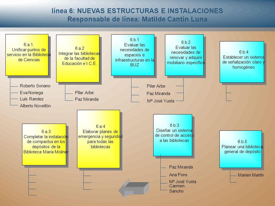 línea 6: NUEVAS ESTRUCTURAS E INSTALACIONES
