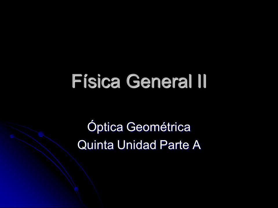 Óptica Geométrica Quinta Unidad Parte A