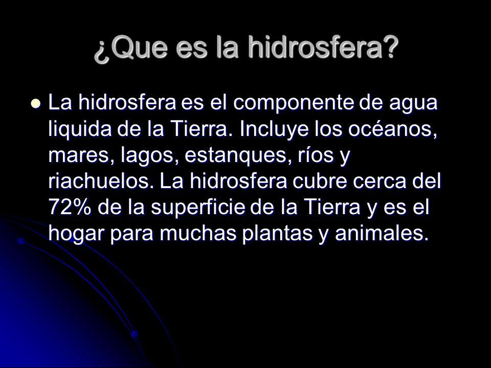¿Que es la hidrosfera
