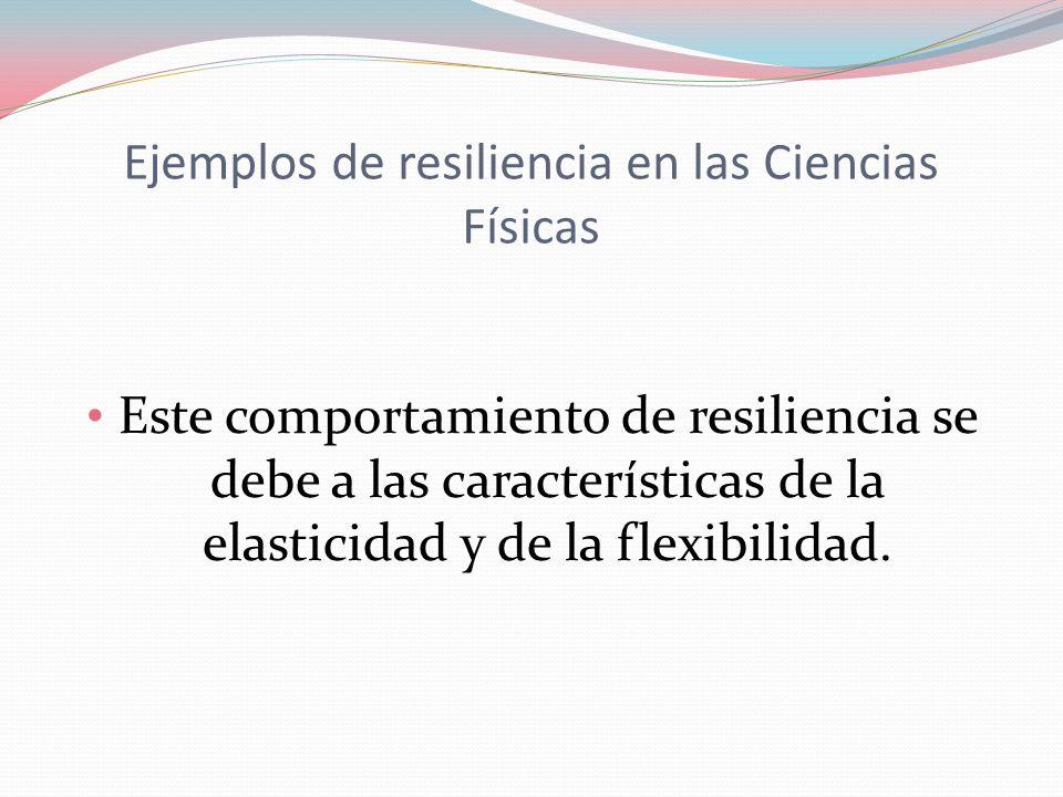 Ejemplos de resiliencia en las Ciencias Físicas