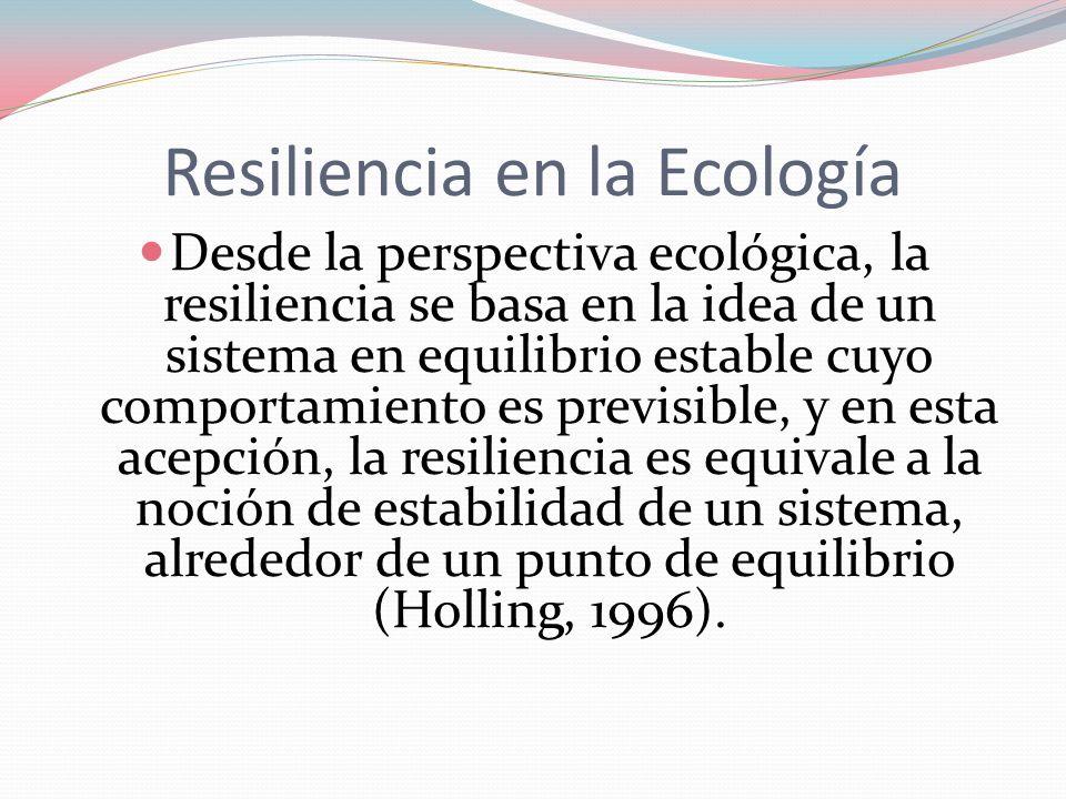 Resiliencia en la Ecología