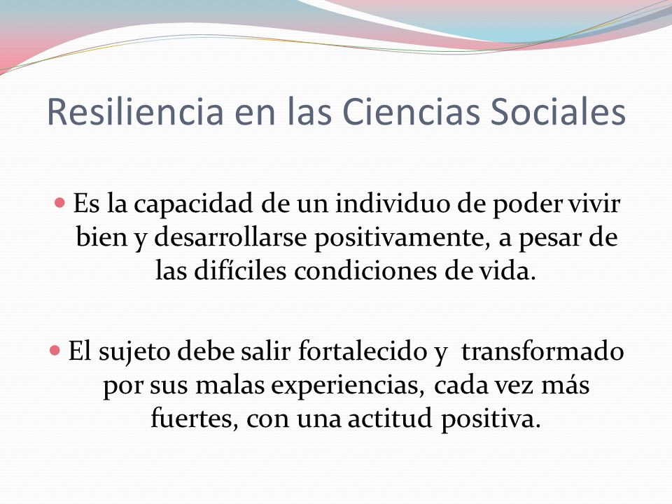 Resiliencia en las Ciencias Sociales