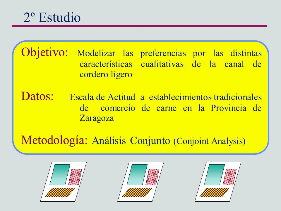 2º Estudio Objetivo: Modelizar las preferencias por las distintas características cualitativas de la canal de cordero ligero.