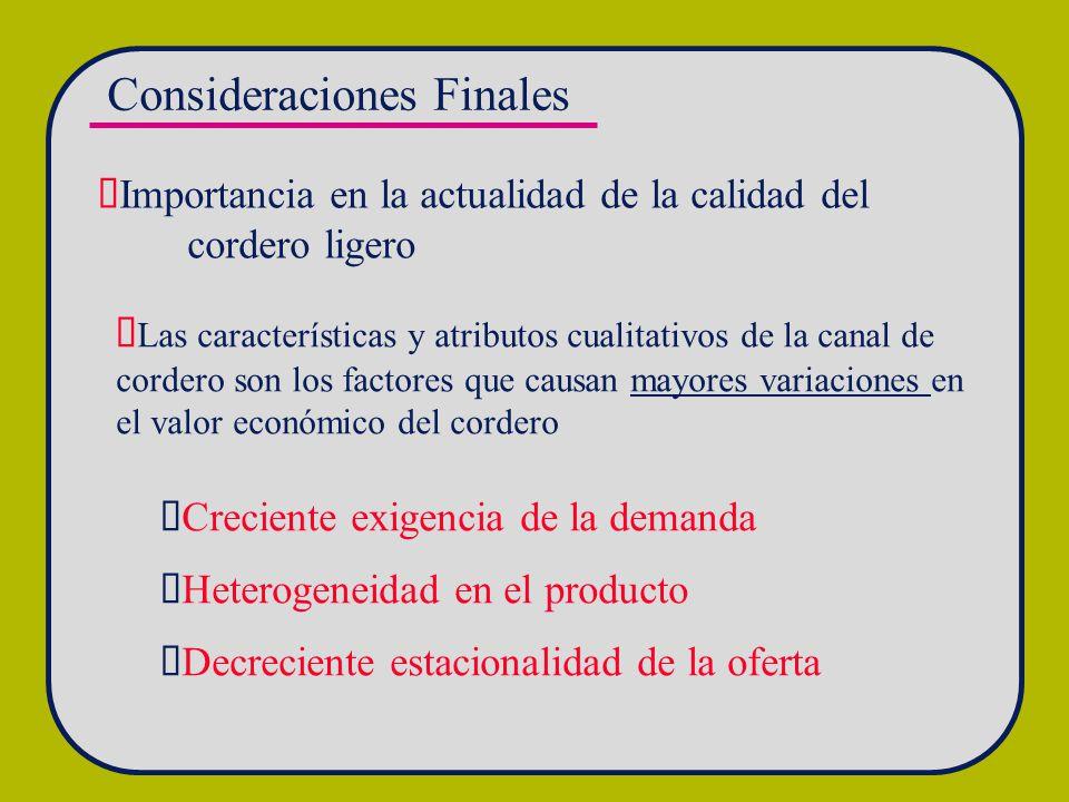 Consideraciones Finales