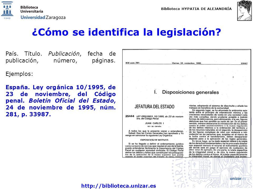 ¿Cómo se identifica la legislación