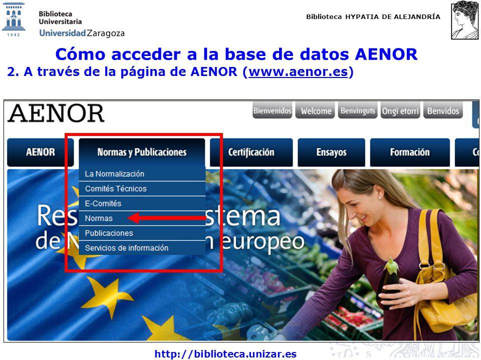 Cómo acceder a la base de datos AENOR