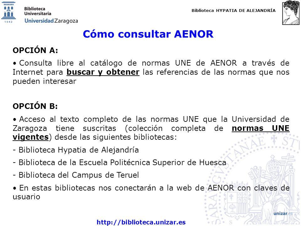 Cómo consultar AENOR OPCIÓN A: