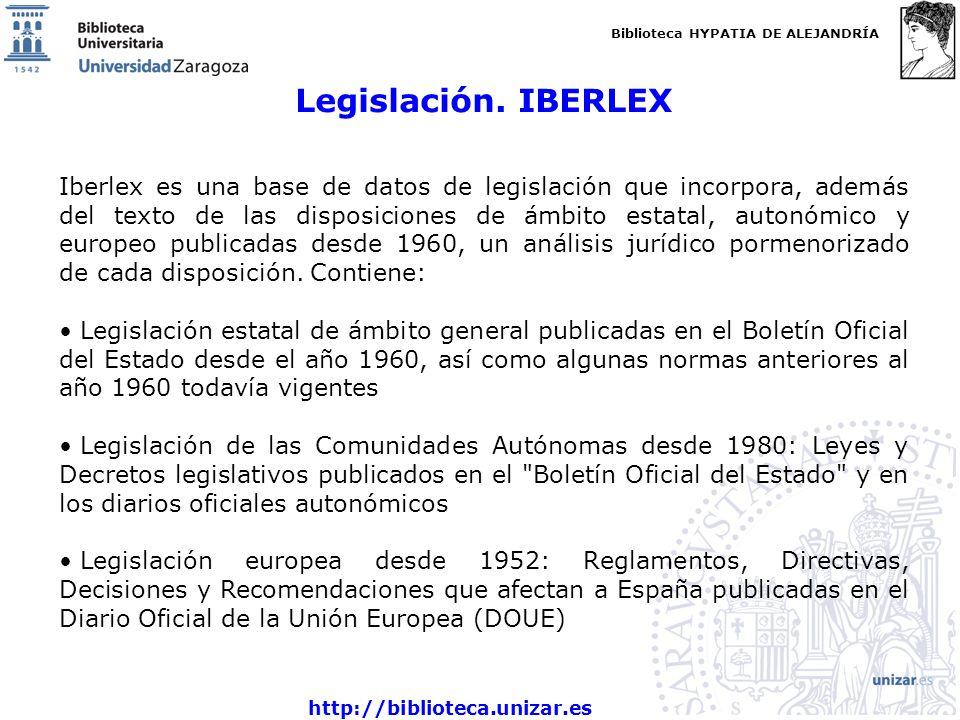 Legislación. IBERLEX