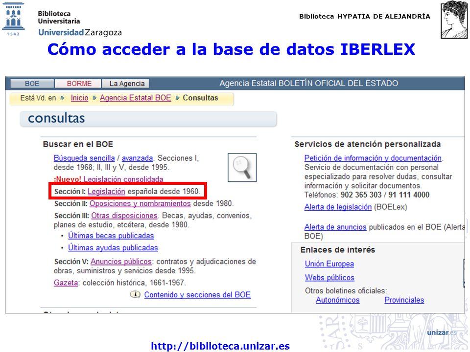 Cómo acceder a la base de datos IBERLEX
