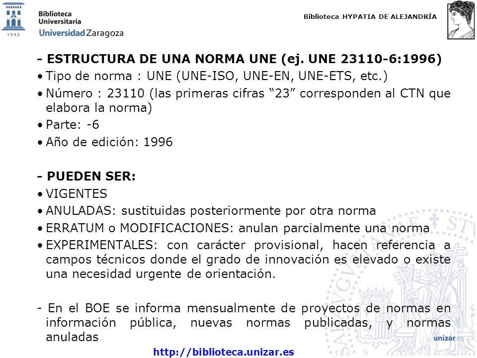 - ESTRUCTURA DE UNA NORMA UNE (ej. UNE 23110-6:1996)