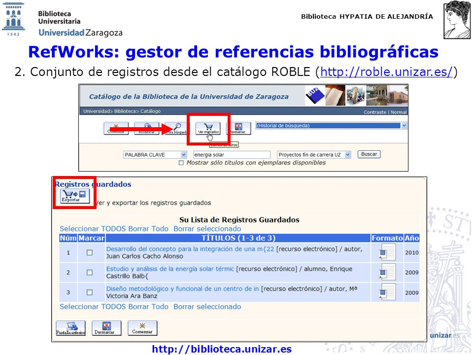 RefWorks: gestor de referencias bibliográficas