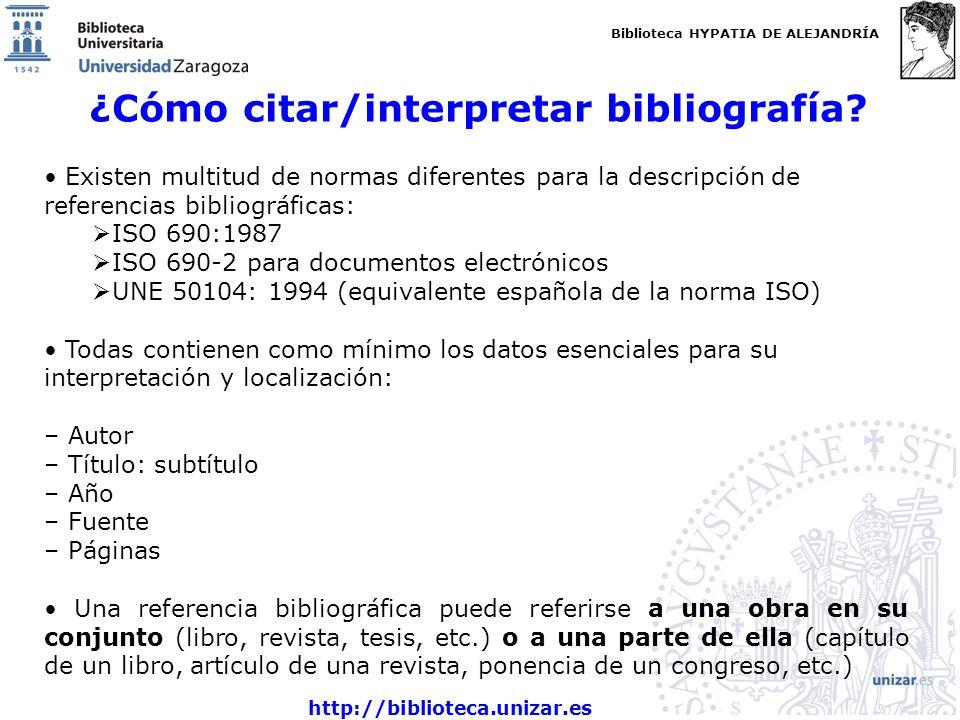 ¿Cómo citar/interpretar bibliografía